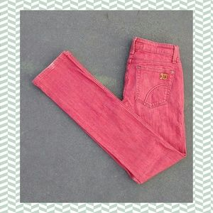 💥Joes jeans cigarette straight leg sz26 faded red